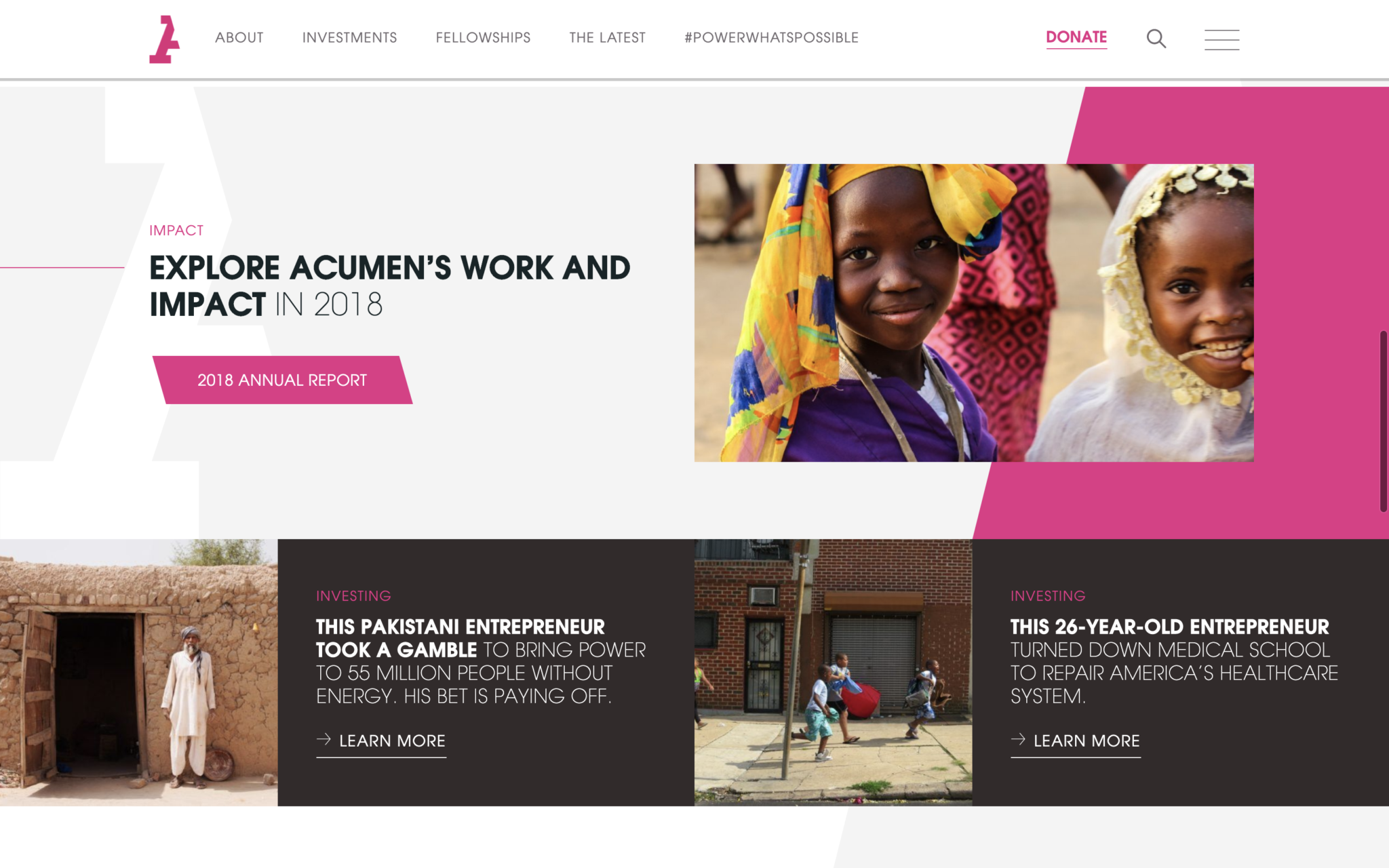 Image 2 of Acumen home page