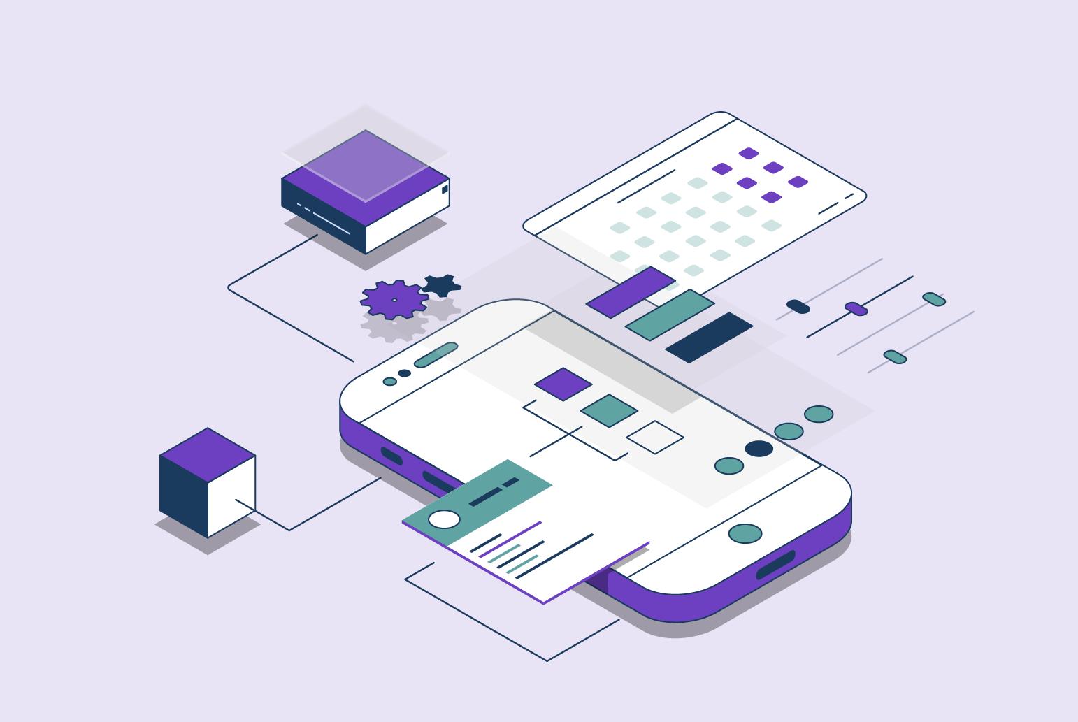 Platforms graphic - designed by Sonja Meyer